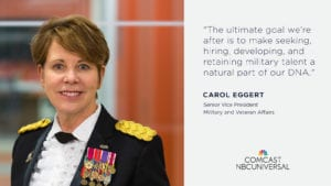 Comcast NBCUniversal Celebrates Veterans; Expands Military Hiring Goal to 21,000 by 2021