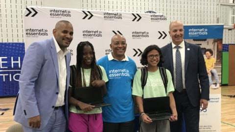Internet Essentials recipients and members of The Sanneh Foundation.